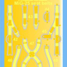 MD7215 MiG-25. Seat belts
