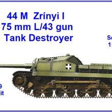 1609 44M Zrinyi I 75mm L/43 gun Tank Destroyer