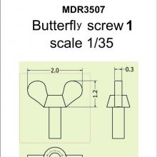 SMDR3507 Butterfly screw 1