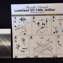 MD14409 Detailing set for aircraft model VC-140b JetStar