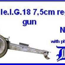 3508 German le.I.G.18 75mm regimental gun