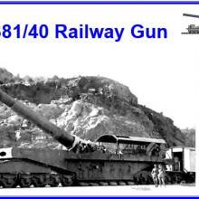 35111 Italian 381/40 Railway Gun