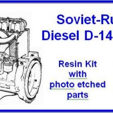 35112 Soviet-Russian Diesel D-144 engine