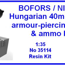35114 Bofors/Nimrod Hungarian 40mm 42a.M armour-piercing ammo & ammo box
