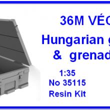 35115 36M Vecsey Hungarian grenade & grenade box