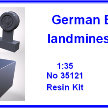 35121 German EZ-44 landmines and box