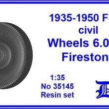 35145 Ford civil wheels 6.0x16 Firestone