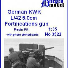 3522 German KWK L/42 50 mm fortifications gun