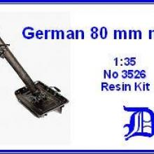 3526 German 80mm mortar