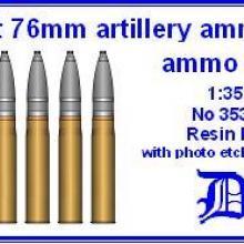3530 Soviet 76 mm artillery ammo & ammo box