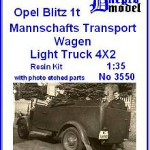 3550 Opel Blitz 1t Mannschafts Transport Wagen