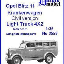 3558 Opel Blitz 1t Krankenwagen Civil version