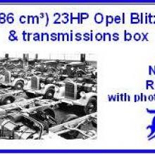 3561 1,2 l 1186 cm3 23HP Opel Blitz engine & transmissions box