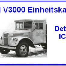 3563 Ford V3000 Einheitskabine Detail set for ICM 35411