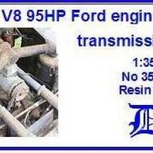 3564 3,9 l V8 95HP Ford engine & transmissions box