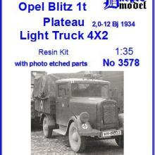 3578 Opel Blitz 1t Plateau 2,0-12 Bj 1934