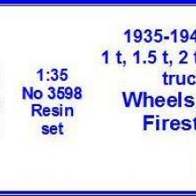 3598 Ford 1.5, 2.0, 2.5, 3.0 ton trucks Wheels 7.5x20